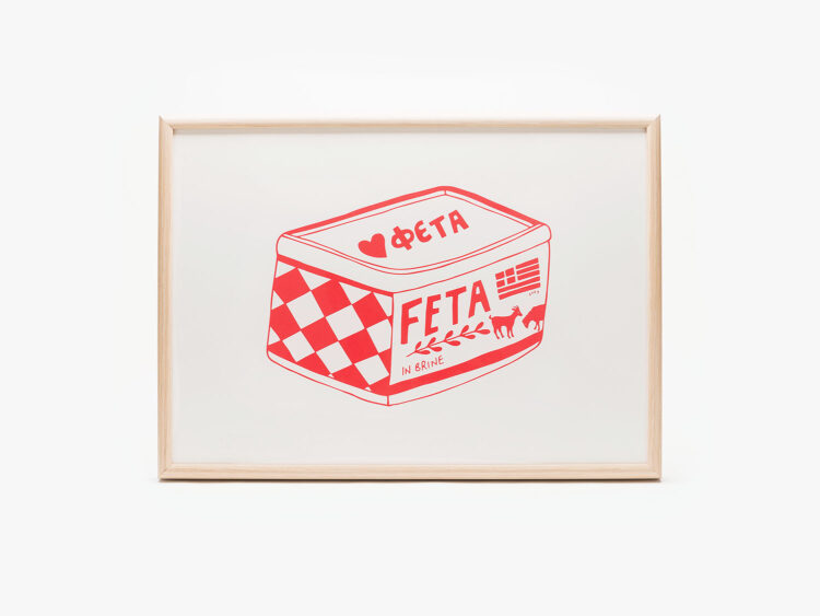 screen-printed-red-and-white-poster-feta